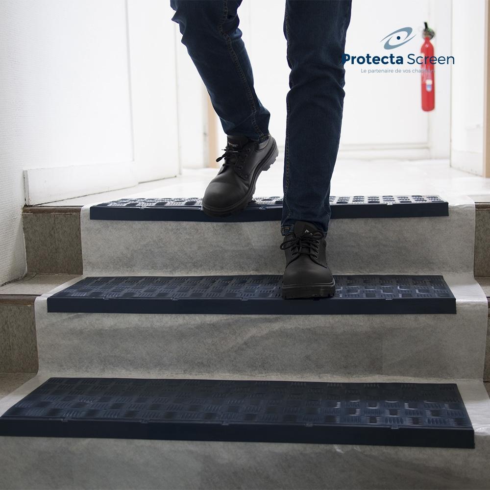Protection Pour Marche D Escalier nez de marche angle droit non-feu m2   protecta screen